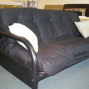 black metal futon