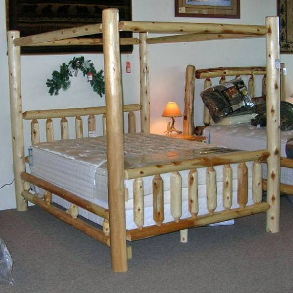 log canopy bed